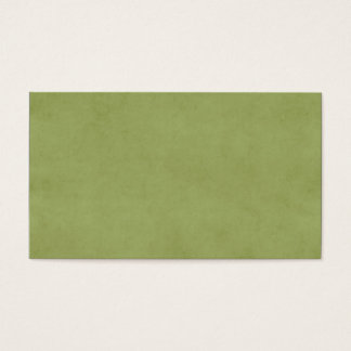 Vintage Olive Green Paper Parchment Background Business Card