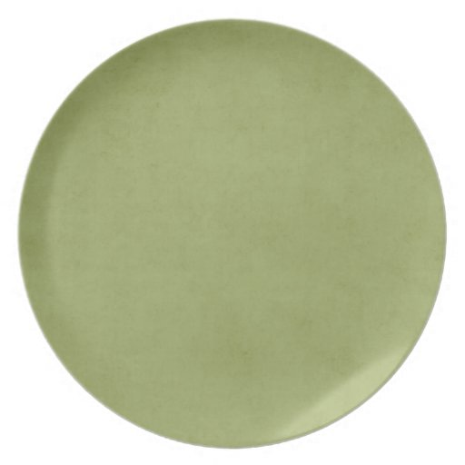 Vintage Olive Green Paper Parchment Background Party Plate