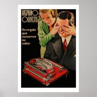 Vintage Olivetti Ads (Restored) Poster