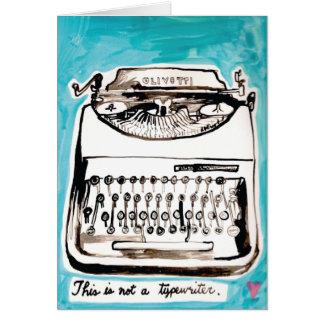 Vintage Olivetti Typewriter Card
