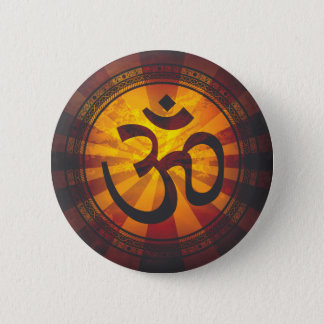 Vintage Om Symbol Print 6 Cm Round Badge