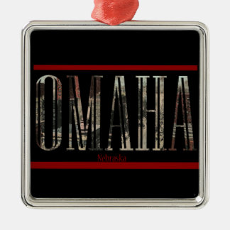 Vintage Omaha Postcard Design Christmas Ornament