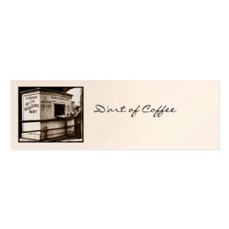 Vintage One Cent Coffee Sign Pack Of Skinny Business Cards
