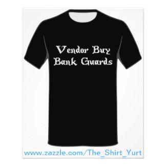 Vintage Online Gaming Vendor Buy Bank Guards Flyer
