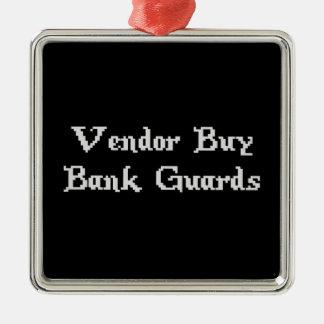 Vintage Online Gaming Vendor Buy Bank Guards Silver-Colored Square Decoration