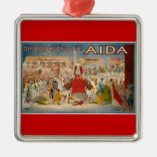 Vintage Opera Aida Artwork Christmas Ornament