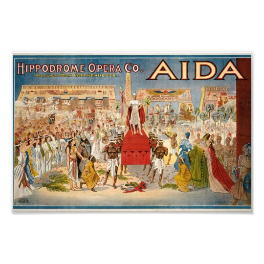 Vintage Opera Aida Artwork Photo Print
