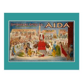 Vintage Opera Aida Artwork Postcard
