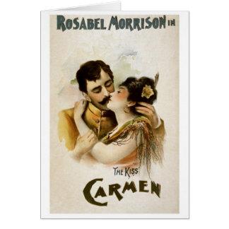 Vintage Opera Carmen Poster Card