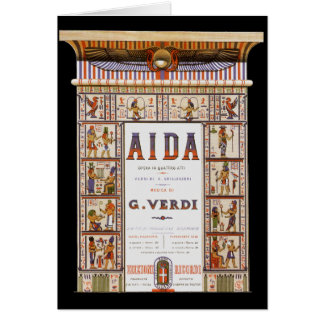 Vintage Opera Music, Egyptian Aida by Verdi Card