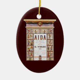Vintage Opera Music, Egyptian Aida by Verdi Christmas Ornament