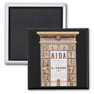 Vintage Opera Music, Egyptian Aida by Verdi Magnet