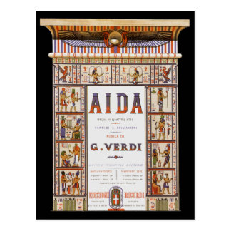 Vintage Opera Music, Egyptian Aida by Verdi Postcard