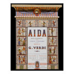 Vintage Opera Music, Egyptian Aida by Verdi Poster