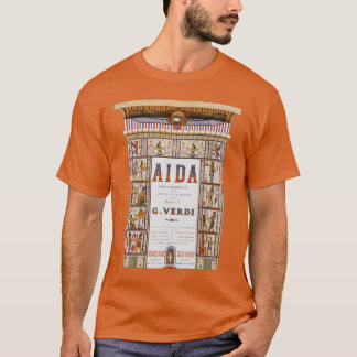 Vintage Opera Music, Egyptian Aida by Verdi T-Shirt