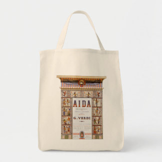 Vintage Opera Music, Egyptian Aida by Verdi Tote Bag