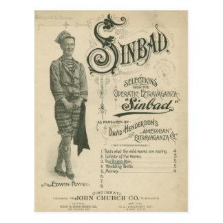 Vintage Opera Sinbad Postcard