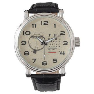 Vintage Ophthalmologist Eye Chart Wrist Watches
