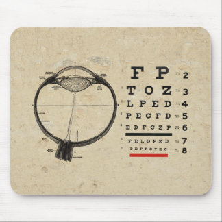 Vintage Ophthalmologist Mouse Mat