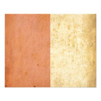 Vintage Orange Cream Bicolor Grunge Design Flyer