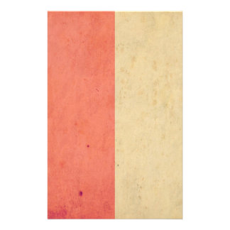 Vintage Orange Cream Bicolor Grunge Pattern Personalized Flyer