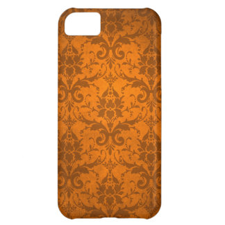 Vintage Orange Damask Wallpaper iPhone 5C Case