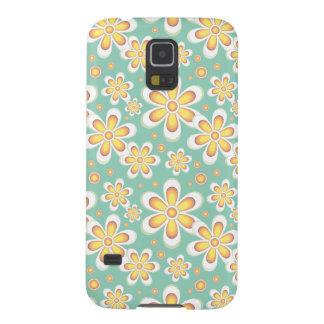 Vintage orange flowers galaxy s5 cover