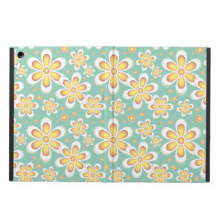 Vintage orange flowers iPad air case