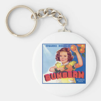 Vintage Orange Food Product Label Keychain