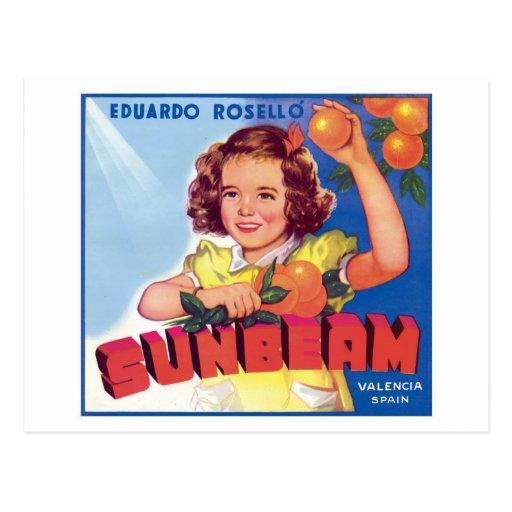 Vintage Orange Food Product Label Postcards