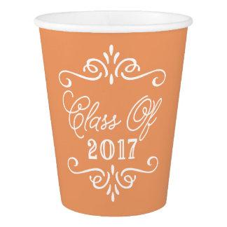 Vintage Orange | Graduation Paper Cup