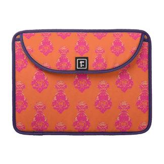 Vintage orange/pink background sleeve for MacBook pro