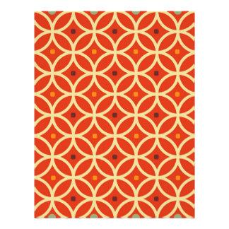 Vintage orange yellow quatrefoil trellis pattern 21.5 cm x 28 cm flyer