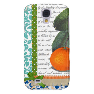 Vintage Oranges Collage Galaxy S4 Case