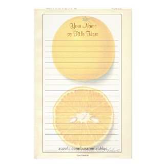 Vintage Oranges Stationery