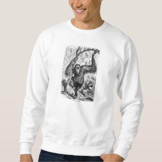 Vintage Orangutan Illustration -1800's Monkey Sweatshirt