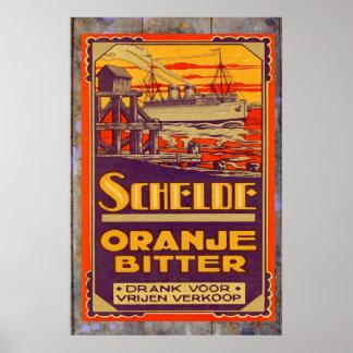Vintage Oranje Bitter Poster
