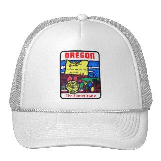 Vintage Oregon 60s Decal Art Sunshine State Hats