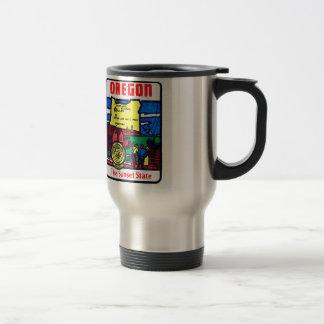 Vintage Oregon 60s Decal Art Sunshine State Mug