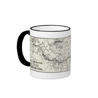 Vintage Oregon Trail Historical Map Ringer Mug