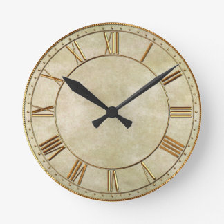 Vintage Oriental Bamboo 1 Round Clock