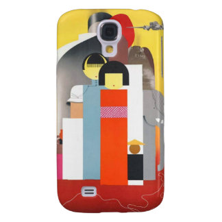 Vintage Oriental Travel Poster Galaxy S4 Case