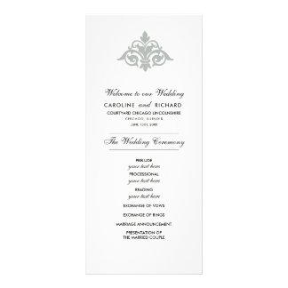 Vintage Ornamental design Custom Wedding Programs Rack Card