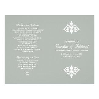 Vintage Ornamental design Folded Wedding Programs Flyer