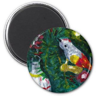 Vintage ornaments 6 cm round magnet
