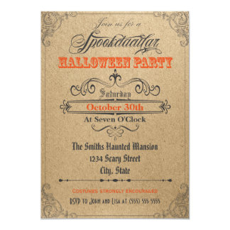 Vintage Ornaments Halloween Invitation