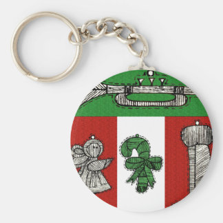 Vintage Ornaments Key Chain