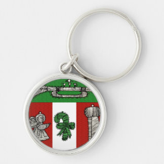Vintage Ornaments Keychain