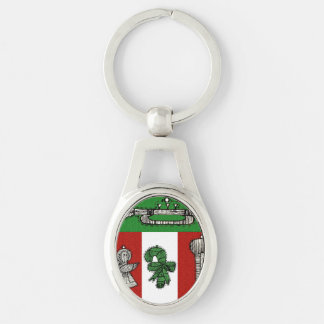 Vintage Ornaments Silver-Colored Oval Key Ring