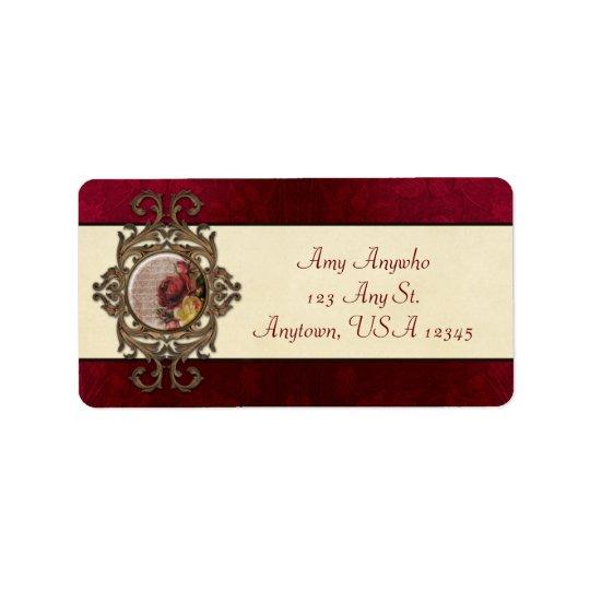 Vintage Ornate Floral Address Label